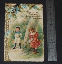 CHROMO CHOCOLAT POULAIN 1890-1910 DONNER JEU DE CACHE-CACHE