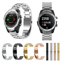 Stainless Steel Wristwatch Bands Adjustable Strap Replacement for TicWatch Pro