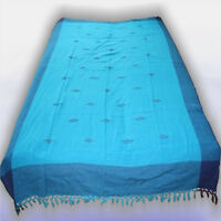 Tagesdecke Bettüberwurf Nepal Classic Überwurf Blau Azur Baumwolle 48 Single