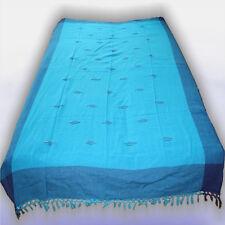 Tagesdecke NEPAL-CLASSIC-Bettüberwurf Blau-Azur, indien 48 SINGLE