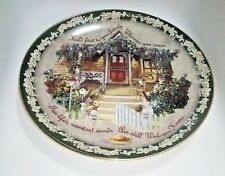 Glenna Kurz Plate Bradford Exchange Welcome Home Hold Fast To Your Family 1998