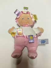 """Mary Meyer Taggies 9"""" Pink & White My First Baby Doll Plush Lovey"""