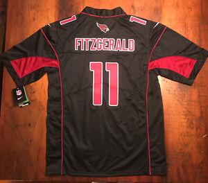 NWT Larry Fitzgerald Arizona Cardinals NIKE ON FIELD NFL Jersey Black Sz Medium