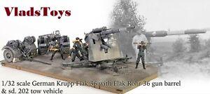 Forces Of Valor 1/32 Krupp 88mm FlaK 36 w/sd.202 Tow Vehicle Stalingrad 801008A