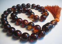 Islamic Prayer Baltic Amber 33 beads 28.9 g !!!