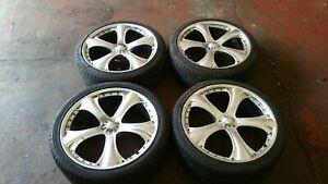 "22"" alloy wheels 5x130 porsche cayenne 911 912 944 boxster audi q7 vw touareg"