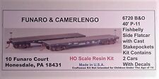 Funaro  F&C HO  B&O  P-11 Fishbelly Flat Car 2 per kit 6720