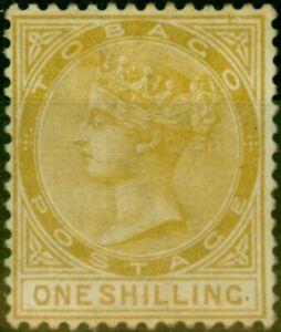 Tobago 1880 1s Yellow-Ochre SG12 Fine Mtd Mint