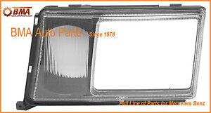 NEW MERCEDES W124 HEADLIGHT DOOR - LEFT WITH LENS FOR FOG LAMP 0008260559