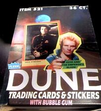 DUNE Fleer Trading Cards FULL WAX BOX 36 Packs 1984 MOVIE CARDS Sting