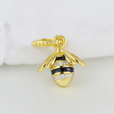 Bumble Bee Charm For Bracelet, Sterling Silver Charm, US SELLER