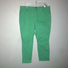 NYDJ  Lift Tuck Technology sz 16W Green IRA Relaxed Ankle Jeans