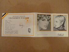 EROTISME FEMME CARTE  CHANGEMENT AGENCE ASTRID AGENCE MANNEQUIN VERS 1970