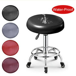 PU Leather Chair Protector Seat Cushion Slipcover Elastic Round Bar Stool Cover