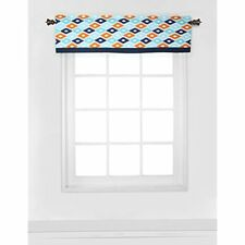 "Bacati Liam Aztec Window Valance, Aqua/Orange/Navy, 54 X 15"" Baby"