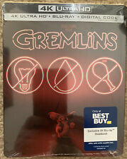 Gremlins Steelbook 4K Ultra HD + Blu-ray + Digital Code Brand New Sealed Auction