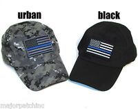 TACTICAL OPERATOR CAP HAT POLICE SWAT THIN BLUE LINE LAW ENFORCEMENT FLAG PATCH