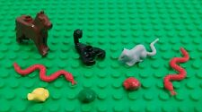 *NEW* Lego Animals Brown Dog Scorpion Red Snakes Green Yellow Frogs Rat Bulk Lot