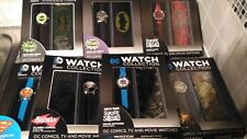 DCComics watch collection, batman, superman, Harley Quinn,