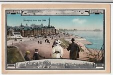Lancashire; Blackpool From The Cliffs PPC 1917 PMK, Shows Pier