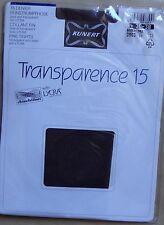 ) vintage collant KUNERT TRANSPARENCE 15 chinchillan lycra marron foncé 36-38