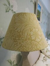 Handmade Coolie Lampshade William Morris Marigold Cowslip yellow fabric 30cm