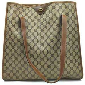 Gucci Tote Bag  Browns PVC 841255