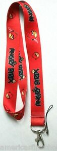 Thick Red Angry Birds Lanyard/Landyard ID Holder Keychain-New with Tags!