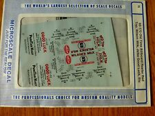 "Microscale Decal N  #60-172 Asst Freight ""Refrigerator Car - Ice - 40' Wilson Mi"