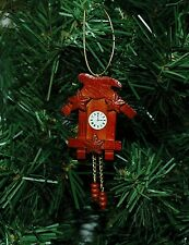 Miniature Wooden Coo Coo Clock Christmas Ornament