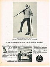 PUBLICITE  1966   CCC   vetements de ski