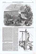 1850 cinture di sollevamento TRAVI primarie e colonne di drenaggio per la grande esposizione Buil
