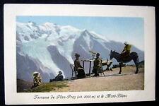 France~1900's CHAMONIX~Terrasse de Plan-Praz~Telescope