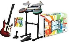 PlayStation 3 Ps3 Band Hero Bundle Kit Drums Guitar Microphone & Game