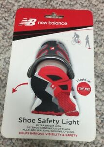 New Balance Safety Light Runners Walkers Cycling LED Shoe Clip, new in package