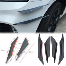 NEW 4X ABS Car Front Bumper Splitter Side Fins Spoiler Canards Carbon Fiber Look