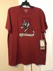 Alabama Crimson Tide Retro Vintage Tshirt Men Large Embroidered Logo
