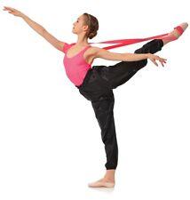 GAYNOR Minden flessibilità Resistenza Band potente ROSA BALLET DANCE Dancewear