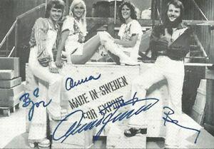 ABBA original Autogramm Postkarte 70er Jahre Druckautogramme sehr selten