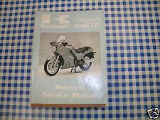 BB 99924-1065-01 Manuel D'atelier KAWASAKI 1000 GTR CONCOURS édition 1986