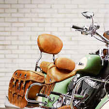 Indian Motorcycle Genuine Leather Rider Backrest Pad - Desert Tan w/ Studs
