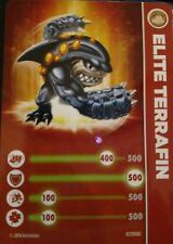 Terrafin Skylanders Eon's Elite Stat Card Only!