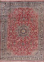 Excellent Floral Ardakan Vintage Oriental Area Rug Wool Hand-Knotted 8x11 Carpet