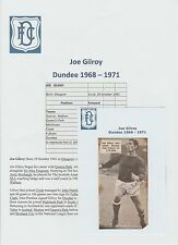 JOE GILROY DUNDEE 1968-1971 ORIGINAL HAND SIGNED MAGAZINE PICTURE CUTTING