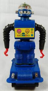 Vintage 1960's Durham Robot wind-up - Zeroid style blue