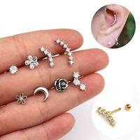 Jewelry Helix Tragus Studs Cartilage Ear Stud Stainless Steel Piercing Earrings