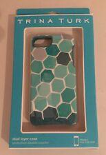 Trina Turk Dual Layer Case for iPhone 5 Green Hexagons NIB Fast Ship!
