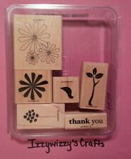 Stampin Up SPRING SOLITUDE flowers bird  EUC  (14-13)