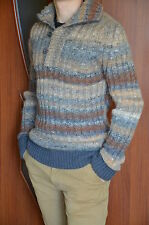 FENDI Mens Sweater Wool Pullover Jumper Size M Authentic Italy Mint