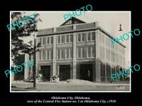 OLD HISTORIC PHOTO OF OKLAHOMA CITY VIEW OF THE No 1 CENTRAL FIRE STATION c1910